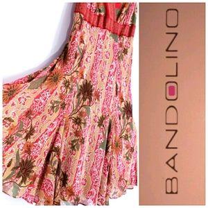 Bandolino Floral Midi Dress Size 16
